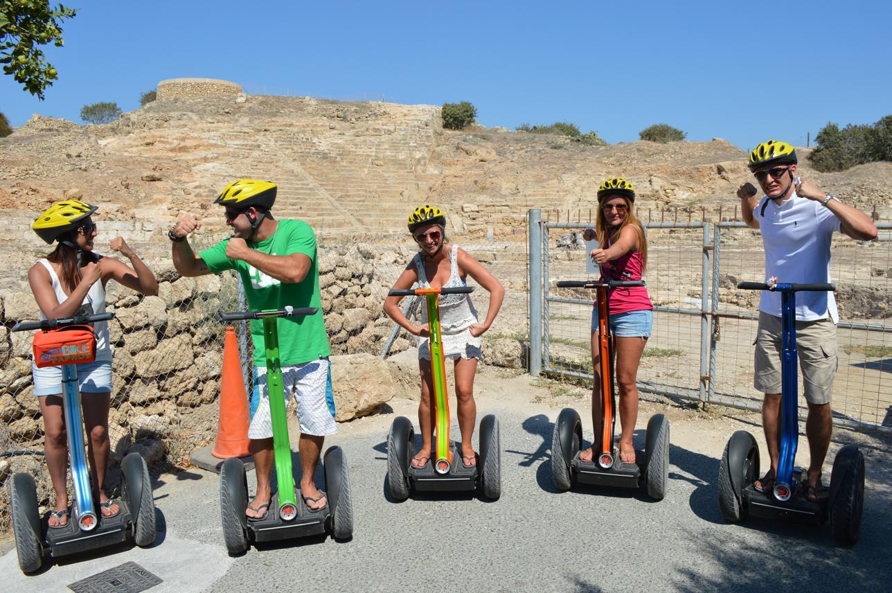 Having Fun at paphos ancient ruins