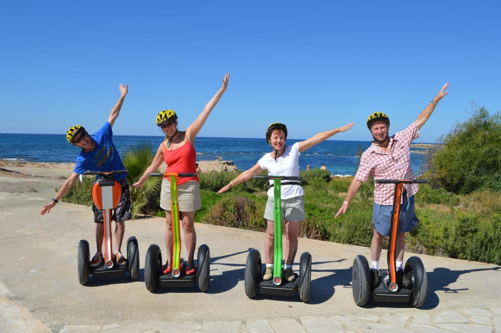 Cruising with Segways at paphos beautiful places